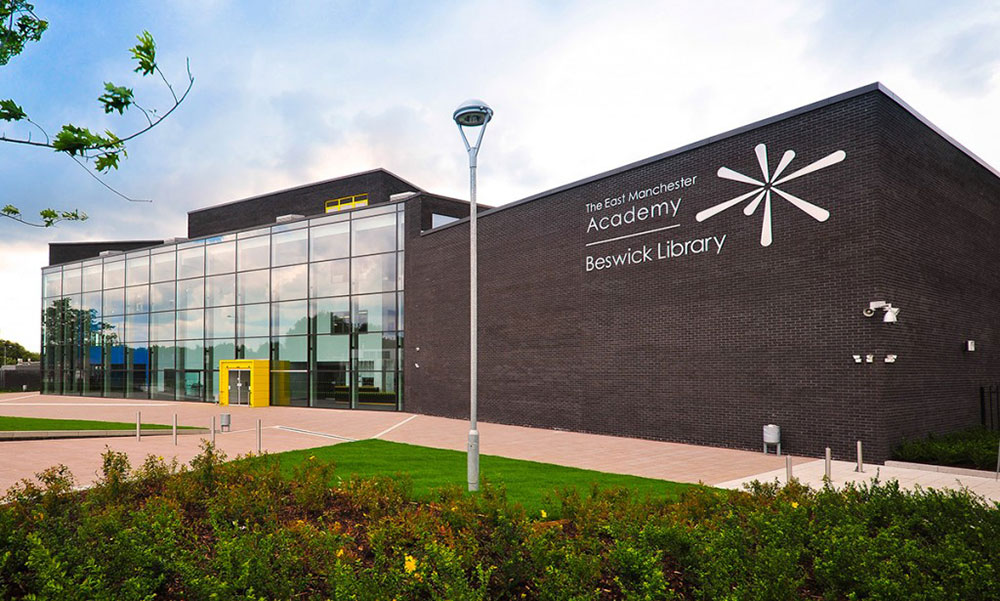 The East Manchester Academy school building