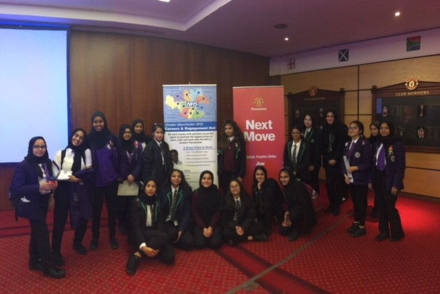 Pupils from Whalley Range and Levenshulme at an NHS careers event at Old Trafford