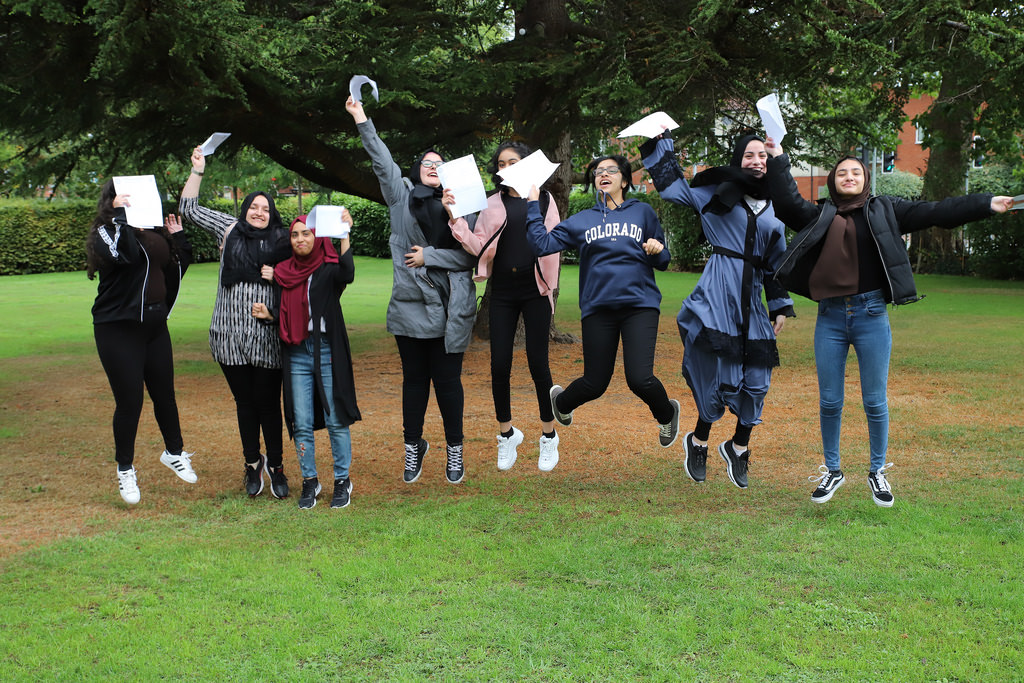 Students celebrate their fantastic results on GCSE Results Day 2018