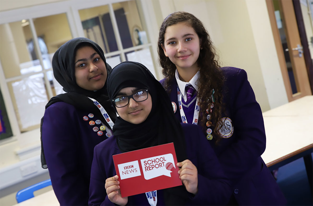 The 2018 BBC School Report team