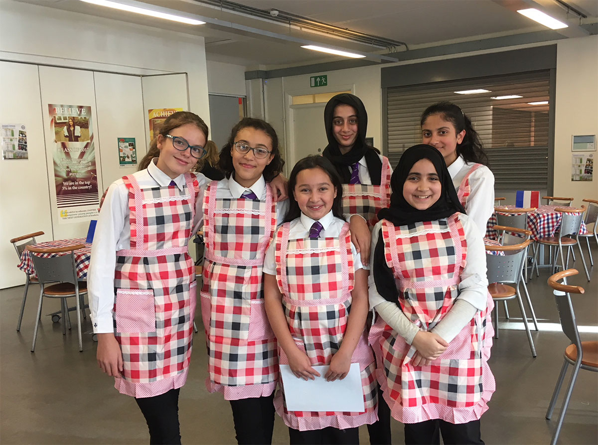 Language Leaders running our French Cafe during Open Evening 2018