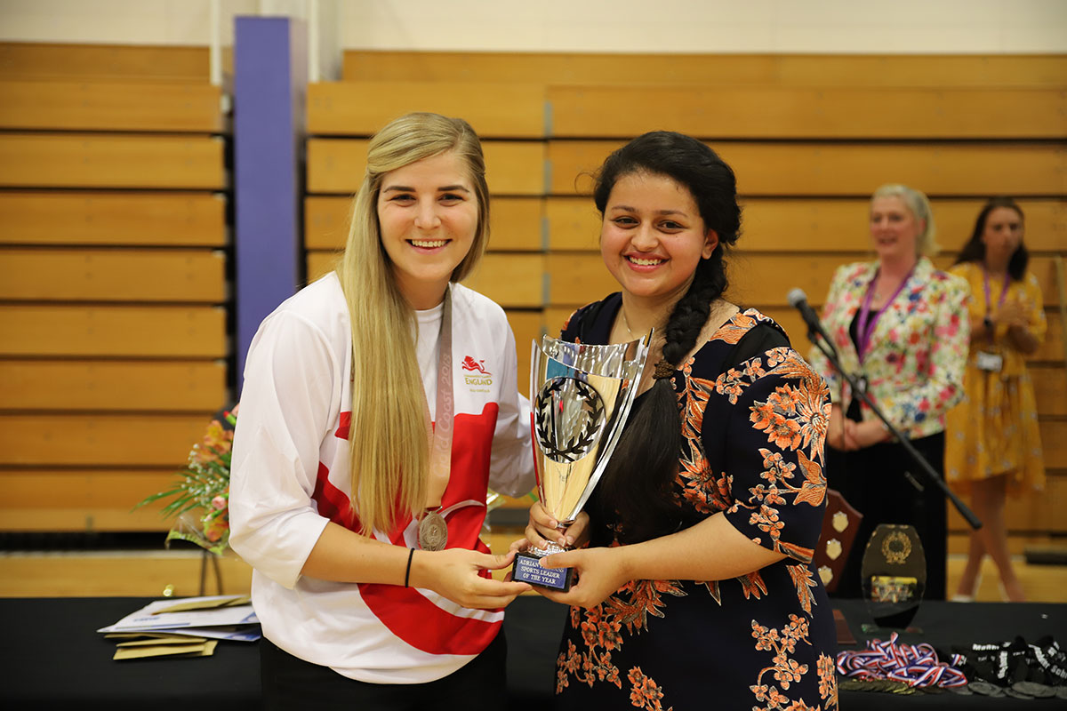Sixth Form Sports Leader of the Year at Sports Presentation Evening 2018