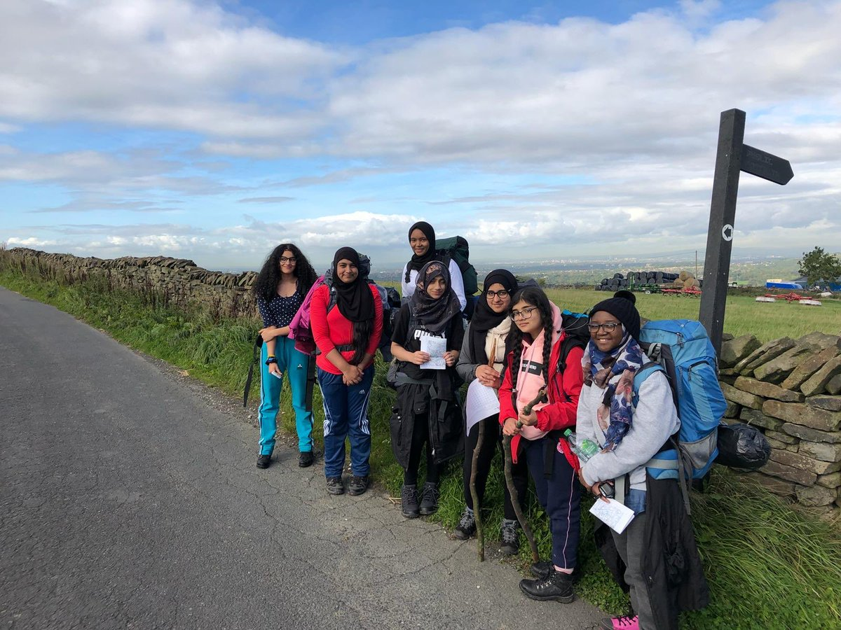 Students during the DofE Bronze Expedition in 2018