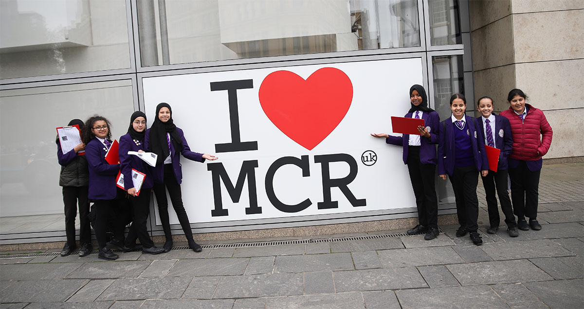 Students visit Manchester city centre as part of Project Day