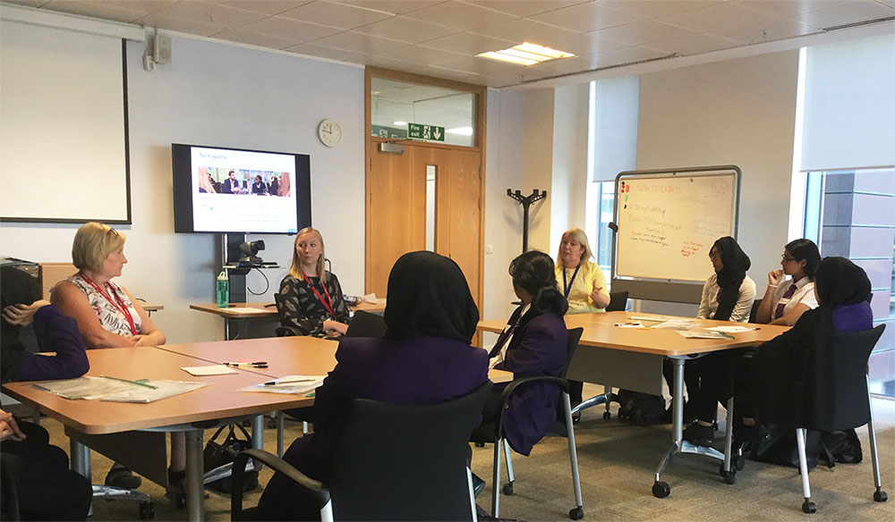 Students at the Insolvency Service in Manchester for an employer visit in 2019