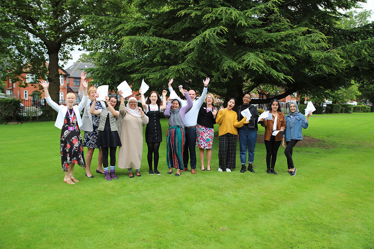 Students and staff celebrate some fantastic results on GCSE Results Day 2019